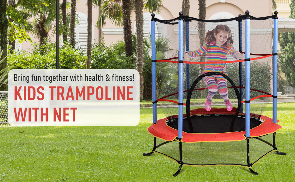 kids bouncing trampoline