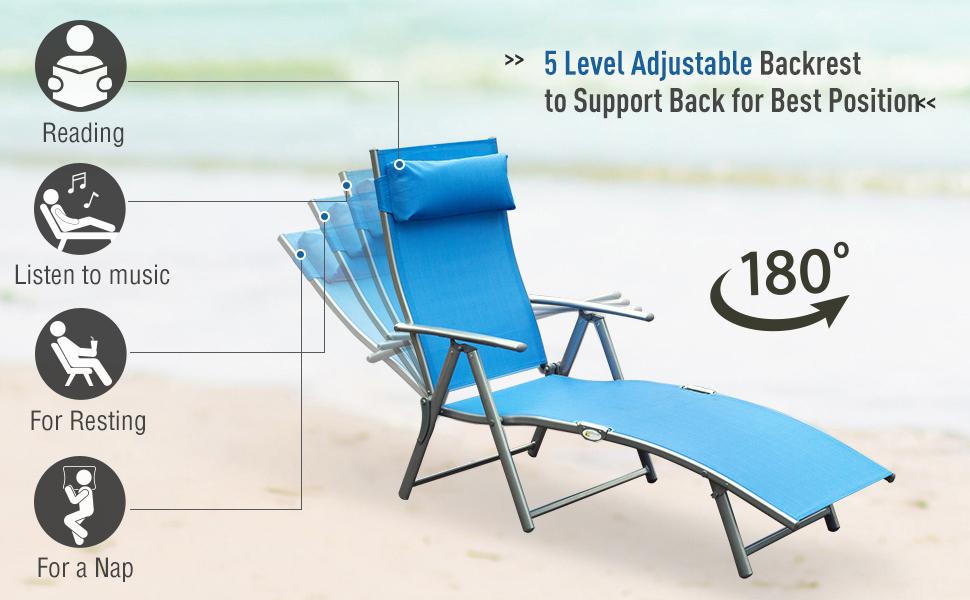 Adjustable Folding Reclining Chair