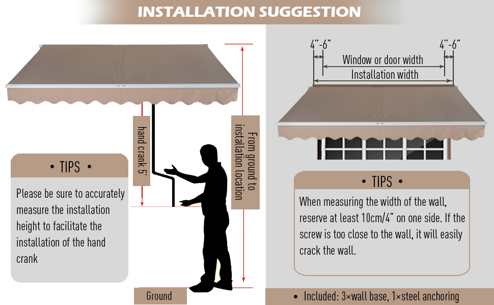 Manual Retractable Patio Awning