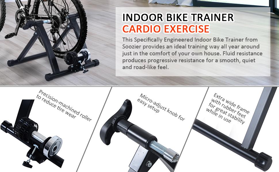 Soozier Kinetic Indoor Bicycle Bike Trainer Exercise