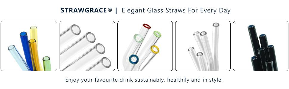 STRAWGRACE Glass Straws