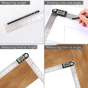 Stainless Steel Ruler with Zeroing and Locking