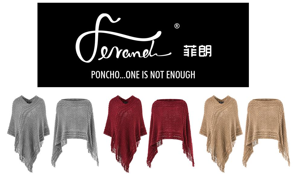 Women's Elegant Cozy Poncho Sweater