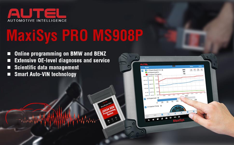 Autel MaxiSys Pro MS908P OBD Full System Diagnostic Tool