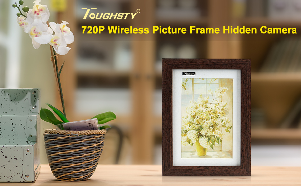 TOUGHSTY 16GB 1280x720P HD Picture Frame Home Hidden Spy Camera ...