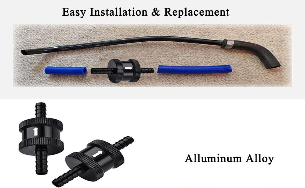 AN6-6AN Aluminium Non Return One Way Check Valve Fuel EFI Fitting Adapter Black
