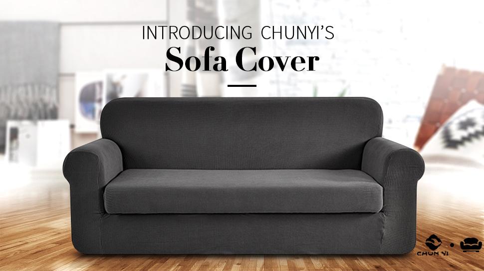 "Introducing CHUN YI'S Sofa Slipcover. """