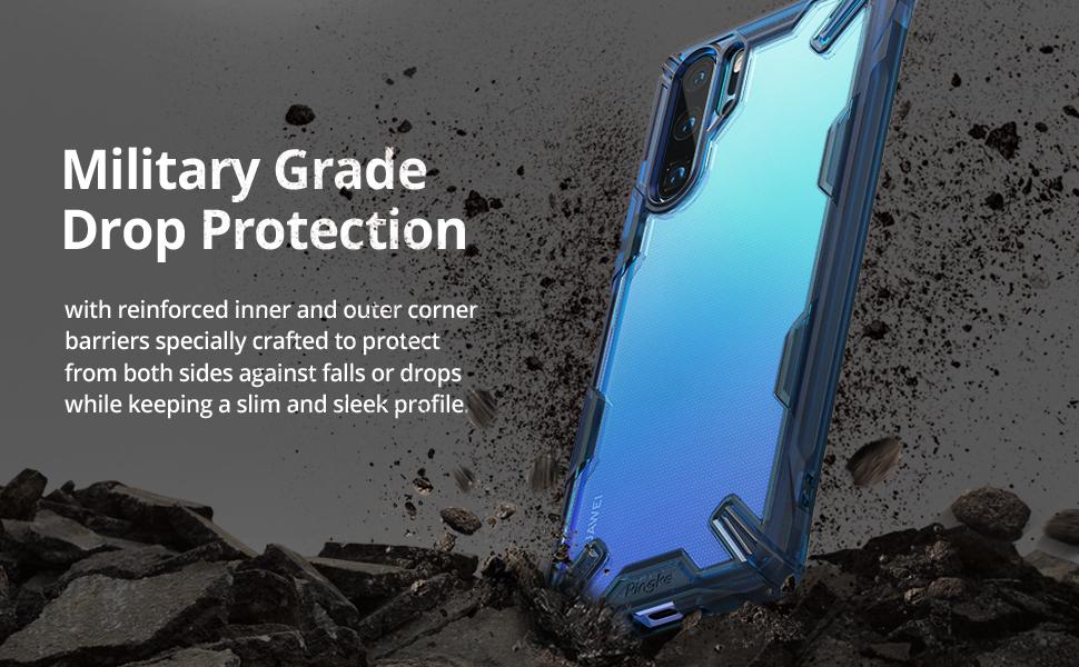Ringke Fusion-X Compatible avec Huawei P30 Pro Coque, Antichoc Bumper Cover pour Huawei P30 Pro - Noir