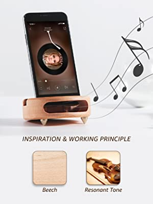 e2d8abf2f0 wood phone stand portable sound amplifier unplugged cell phone amplifier  physical amplifier