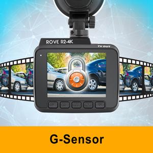 6,1/cm LCD 150//° Grand Angle avec Super Vision de Nuit: /UltraHD 4/K 2160p Cam/éra de Tableau de Bord de Voiture Construit en WiFi et GPS Rove R2/ Dash Cam: