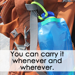 Reusable Collapsible Water Bottle | BPA Free Folding Travel Bottle - easeable.com