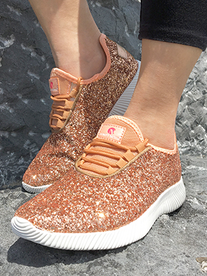 Comfy Moda Women's Sparkly Sneakers