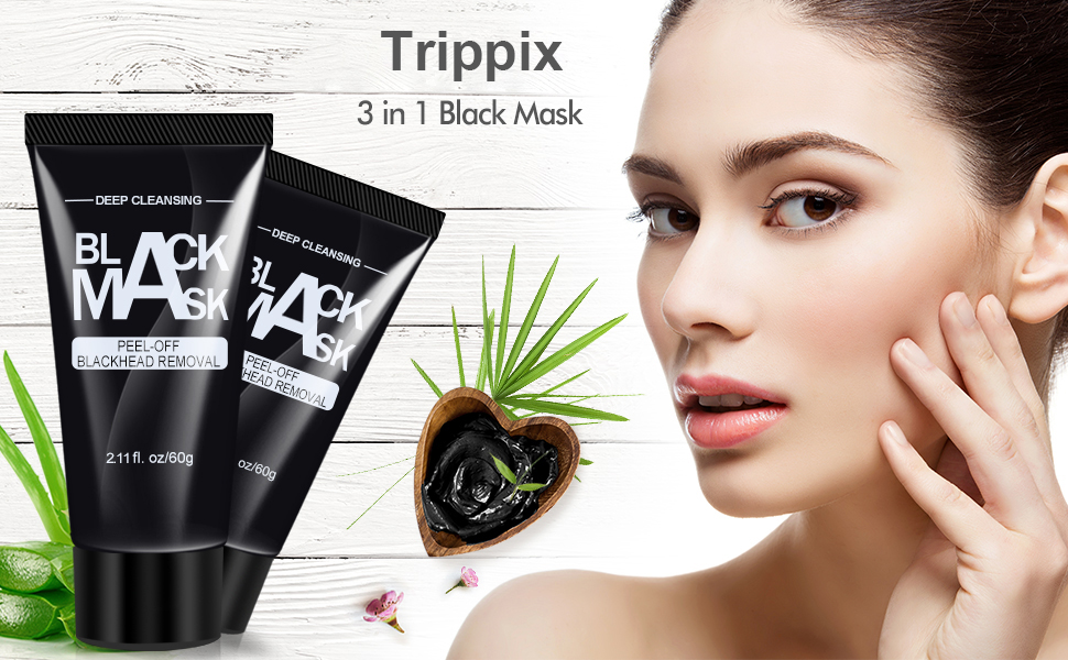 Black Mask, Charcoal Peel Off Mask, Blackhead Remover Face Mask, Oily Skin Control