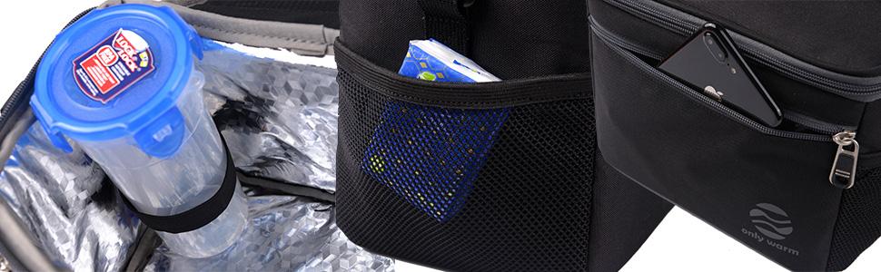 Men's Insulated Lunch Bag with Adjustable Shoulder Strap Mens Tote Cooler Bag Lunchboxes  Men work