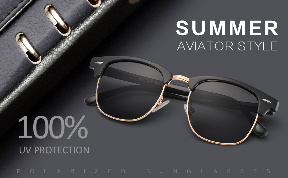 83007ccc594 Men Women Clubmaster Polarized Sunglasses UV 400 Black Lenses Glossy ...