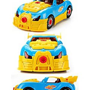 d01de3e9cb84 Take Apart Toy Racing Car – Construction Toy Kit For Kids – Build Your Own  Car Kit  (Version 2!! ) – 30 Take Apart Pieces With Realistic Sounds     Lights By ...