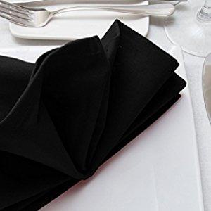 12PK en polycoton Hotel Parti Style Dîner Mariage Restaurant lin Serviettes NEUF