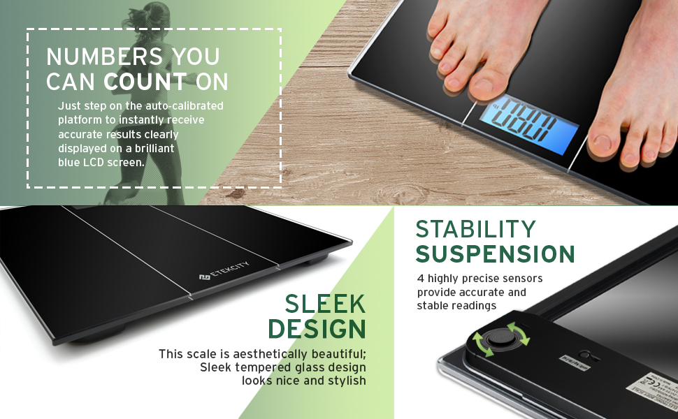 Etekcity Digital Body Weight Bathroom Scale With Body
