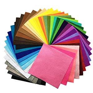 42pcs Felt Fabric Jmkcoz Crafts DIY Felt Nonwoven Fabric Sheet for Art Craft 42 Colors 15 x 15cm