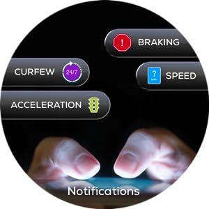 alerts, curfew, speeding, rapid acceleration, hard braking
