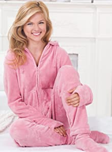 Super-soft fleece surrounds you in our Hoodie-Footie onesie pajamas. Our  fleece is as durable as it is soft and so easy to care for - just toss in  the wash! c5ccc669c