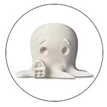 Octopus model petg white