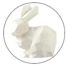 rabbit model petg white