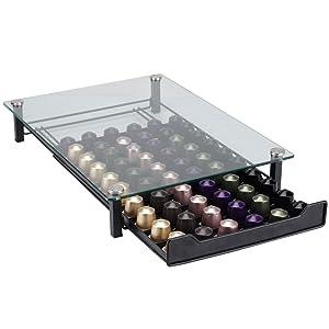 recaps Nepresso Glass drawer