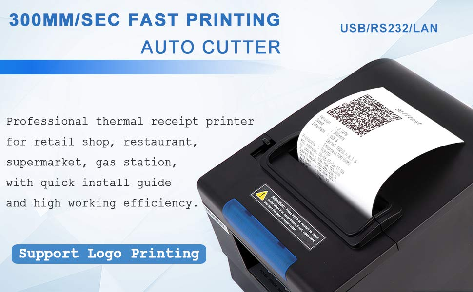 80mm Thermal Receipt POS Printer MUNBYN Auto Cutter Printer USB Serial Ethernet Windows Driver