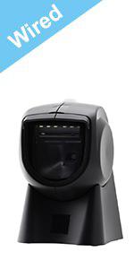 Wired 1D 100 Laser Lines Omni Directional Handsfree Barcode Scanner MUNBYN Auto Sensor