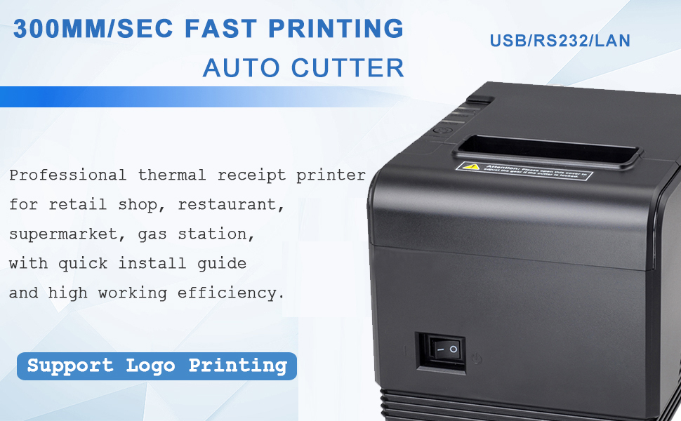 80mm Thermal Receipt POS Printer MUNBYN with USB Serial Ethernet Cash Drawer Windows Driver