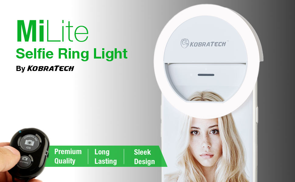 milite white selfie light ring for iphone