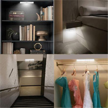 led motion sensor night light lamp under cabinet counter corridor hallway closet key umbrella hook