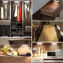 led motion sensor night light lamp under cabinet counter corridor hallway closet key umbrella hook