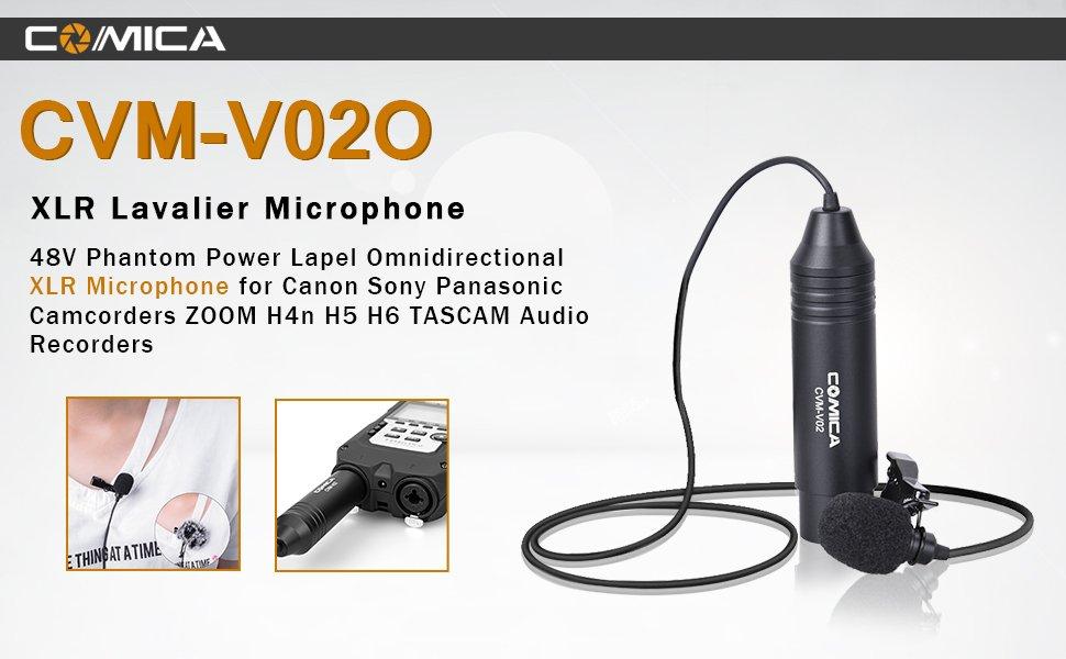Comica Cvm-v02o Omni-directional XLR Lapel Microphone Inc 8m Cable