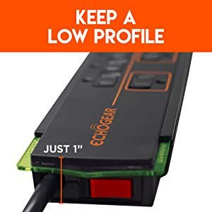 Low profile outlet surge protector