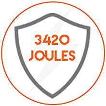 3420 Joules