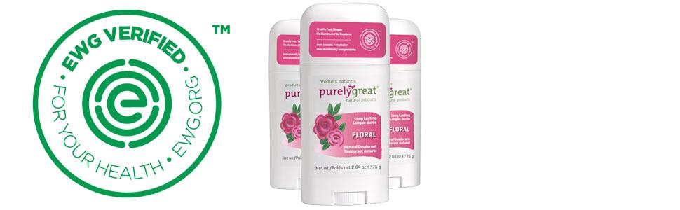 EWG Verified, natural deodorant, vegan, aluminum Free, Cruelty free, natural, best deodorant