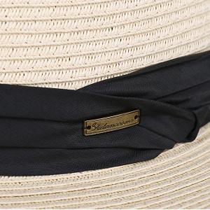 85f9a14d48afb Sedancasesa Women and Men s Straw Fedora Panama Beach Sun Hat Black Ribbon  Band