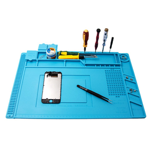 Silicone Magnetic Repair Work Mat for BGA, Soldering Iron Gun, Workbench,