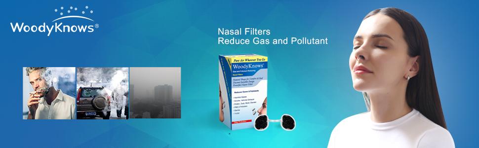 气体和污染物鼻过滤器