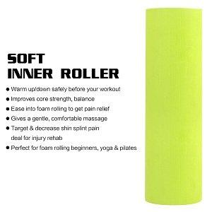 Haute Densit/é Ultra R/ésistant Foam Roller pour Trigger Point Th/érapie ROMIX Rouleau de Massage Muscle Profond des Tissus Automassage pour Pilates Yoga Exercise Fitness Gym Physioth/érapie Crossfit