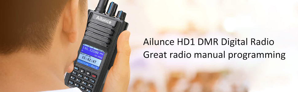 Ailunce HD1 Waterproof Walkie Talkie Dual Band Dual Time Slot DMR  Digital/Analog Two Way Radio VHF/UHF 3000 Channels Ham Amateur Radio(1 Pack)