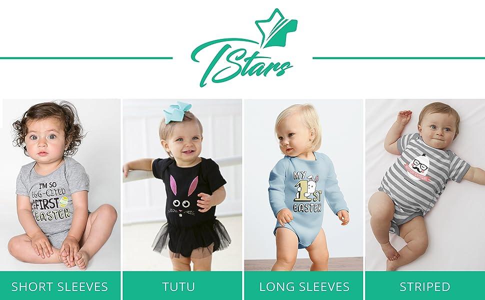 687dca021fc TeeStars - I m So Egg-Cited It s My First Easter Babies Bodysuit ...