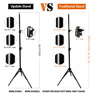 details of upgrade light stand
