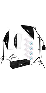 3 softbox kit lighting