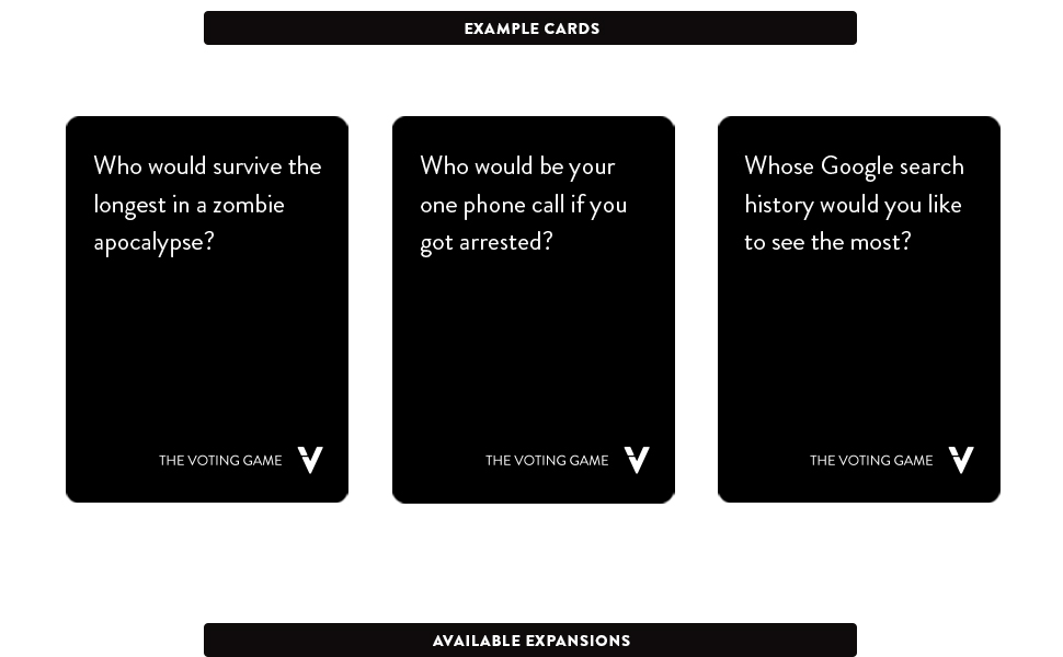 This is a photo of Tactueux Cards Against Humanity Questions List