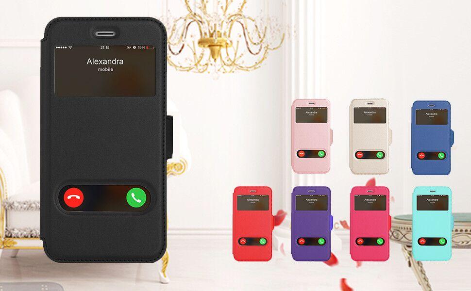 Fyy Coque pour iPhone 6S, iPhone 6, Smart Cover magnétique avec fonction de fenêtre pour Apple iPhone 6S/6 (4,7