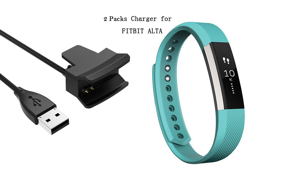 2 Pack Charging Cable for Fitbit Alta, AFUNTA Replacement USB ...
