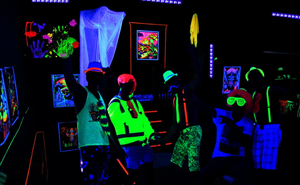 UV LED Black Light Bar For Party, Make Noen Paints And Other Fluorescent  Materials Glow In The Dark